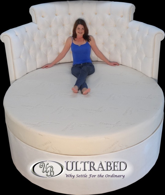 Ultrabed custom sized beds high end oversized luxury for Round bed designs with price